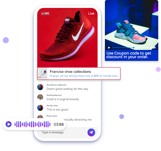 real time messaging api streaming app