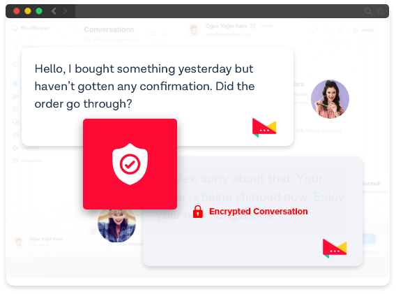 secure in app messaging service