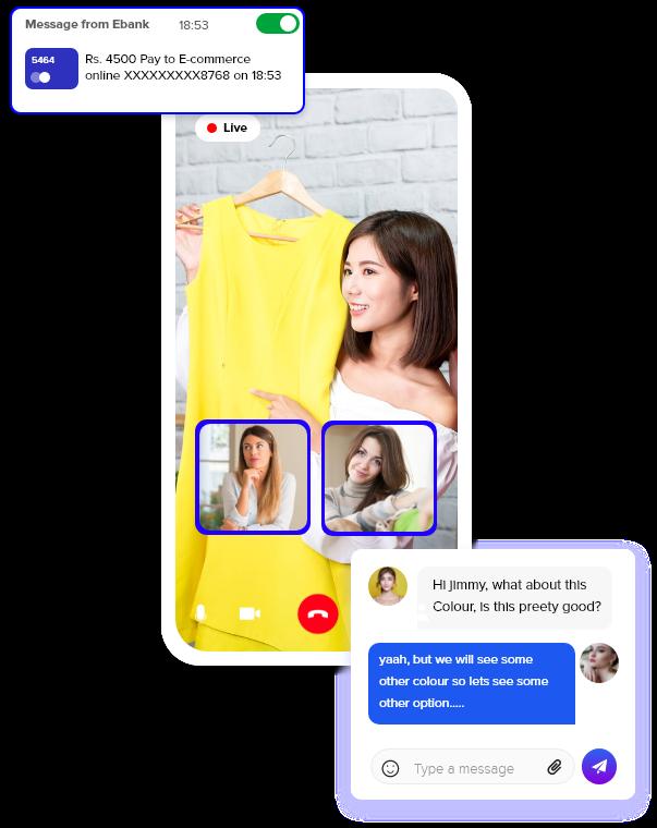 In app messaging api for mobile apps