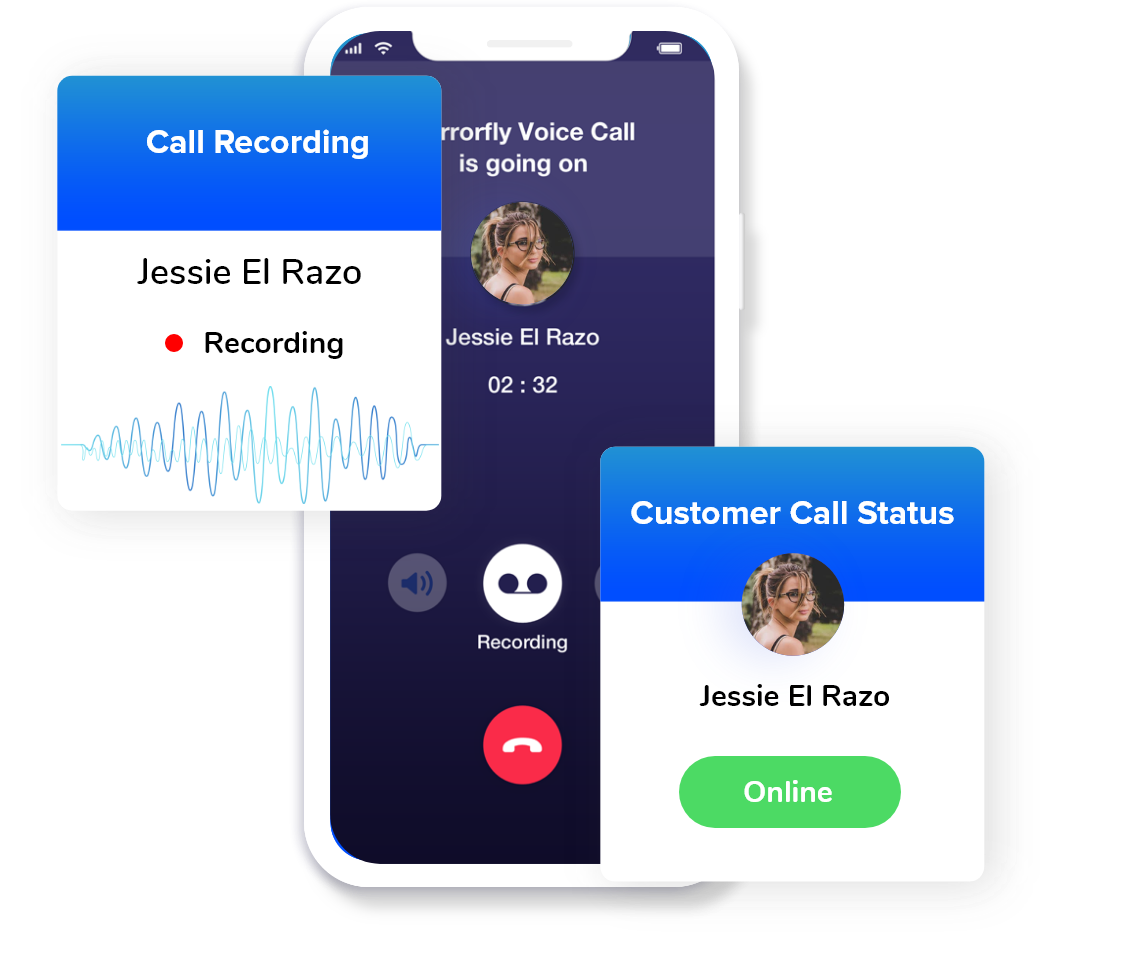 video & audio call recording for contact center